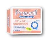 Prevail Super Absorbent Disposable Underpads 80cm x 90cm , Peach colour, Case of 100