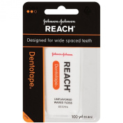 Reach Dentotape Waxed Floss, Unflavored, 100 Yd