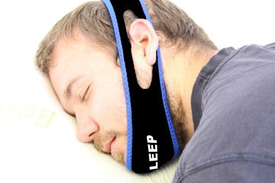 EZ Sleep Anti Snore Chin Strap: - Best Health Care Stop Snoring, Sleep Now Solutions Device - Snore Stopper Relief Guard - Sleep Aid Jaw Strap Reduces Snoring - Allows a Restful Night's Sleep - Comfortably Prevents Snoring - Voted Best Device on the Mar .