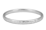 15cm Toddler And Children Silver Hearts And Leaves Bangle Bracelet