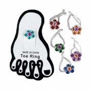 Stretchy Flower Toe Ring