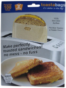 """Toastabags Reusable Non-Stick Sandwich/Snack """"In Toaster"""" Grilling Bags, 2 Pack"""