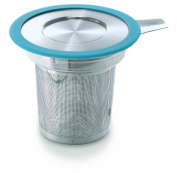 Brew-in-Mug Extra-Fine Tea Infuser with Lid, Turquoise