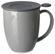 FORLIFE Uni Brew-in-Mug with Tea Infuser and Lid, 470ml, Grey