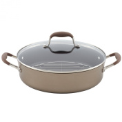 Anolon Advanced Bronze Hard Anodized Nonstick 5.2l Covered Braiser with Rack
