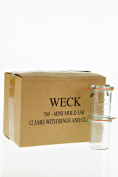 Weck 760 Mini Mould Jar, 160ml - 12 Jars