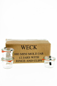 Weck 080 Mini Mould Jar, 80ml - Set of 12