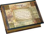 Romans 6:22 But Now That You Have Been Set FreeAmazing Grace Foiled Accent Book Style Jewellery Music Box - Plays Song Amazing Grace