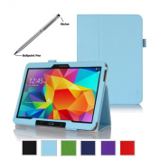 ProCase for Samsung Galaxy Tab 4 10.1 Tablet Case with bonus stylus pen - Bi-Fold Stand Cover Case for 25cm Galaxy Tab 4 (2014 released), with auto Sleep/Wake, Hand Strap, also compatible with Galaxy Tab 3 10.1
