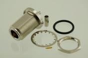 N Female Bulkhead Crimp RF Radio Connector for RG-174 and LMR-100 - by W5SWL ®