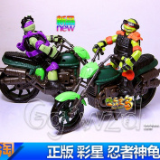 Tmnt Action Teenage Mutant Ninja Turtles+motorcycle Figure Model Toys