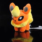 New Tomy Pokemon Pikachu 15cm  Flareon Plush Figure Doll Toy
