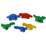 6 Colourful Plastic Dinosaur Dough Plasticine Mould Crafting Tool