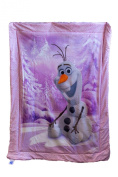 Disney Frozen featuring Olaf as the main print - Pink Baby Blanket 100cm x 130cm