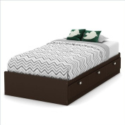 South Shore Karma Mates Bed in Chocolate -