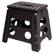 Easy Life Carry Folding Step Stool / Seat With Anti-Slip Surface 33cm For Kids Works Home - Black