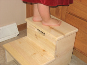 Unfinished Children's Step Stool-made in USA
