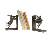 Climbing Cat and Branch Book Ends