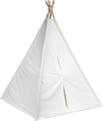 Giant Canvas Teepee 1.8m - Customizable Canvas Fabric With Carry Case - by Trademark Innovations