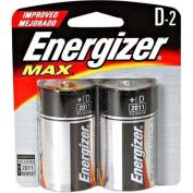"Energizer Alkaline Battery, ""D"" Size, 2/PK"