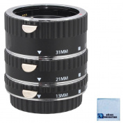 Auto-Focus Macro Extension Tube Set for Canon 5D Mark II, Mark III , 6D, 70D, 7D, 60D, Rebel T2i, T3i, T4i, T5i and SL1 Camera