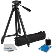 Professional 150cm Lightweight Tripod for All Digital SLR Cameras and Camcorder Canon Sony, Nikon, for for for for Samsung , Panasonic, Olympus with Quick Release Mount + Carrying Case + Camera Lens Cleaning Kit