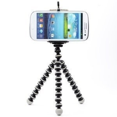 AIRLUT Black/White Colour Octopus Style Portable and adjustable Tripod Stand Holder for iPhone, Cellphone ,Camera