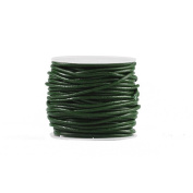 10m Leather Cord Colour Pine Green Size 2x2mm