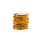 10m Leather Cord Colour Papaya Yellow Size 1.5x1.5mm