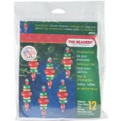 Beadery Holiday Beaded Ornament Kit, 5.7cm by 1.9cm , Victorian Baubles, Makes 12 Ornaments
