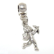 """Jewellery Monster Dangling """"Cupid w/ Bow and Arrow"""" Charm Bead for Snake Chain Charm Bracelets 00249"""