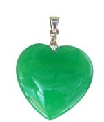 Heart Shaped Natural Jade Pendant - PD003