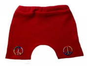 Red Tie Dye Peace Signs Baby Shorts