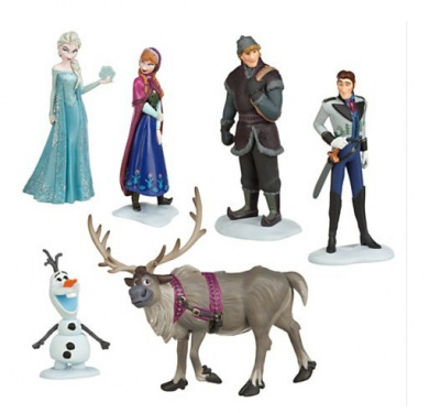 Frozen Snow Adventure Series Dolls Anna Elsa Hans Kristoffloyal Reindeer Sven Olaf Action Figures Toys 6pcs/set