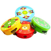 High-quality Baby Toys Cartoon Hand Drum Rattles,tambourine Darnings Infant Musical Instrument Orff Instruments