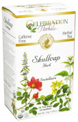 Celebration Herbals - Organic Caffeine Free Skullcap Herb Herbal Tea - 24 Tea Bags