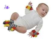 New Baby Toys High Contrast Cut Ladybug Bell Foot Socks Rattles Finder Baby's Sockings Toy