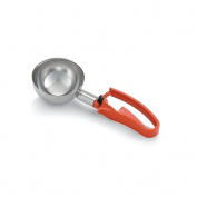 Vollrath 47388 Orange Handled #4 Disher with Squeeze Handle