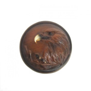 Mother Eagle and Babies Faux Wood Trinket Box