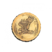 Eagle Faux Carved Wood Trinket Box