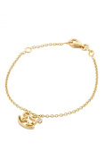 Unicornj 14K Yellow Gold Open Rocking Horse Bracelet with Cubic Zirconia Accent Kids & Children