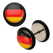 Inox World Cup Germany Stainless Steel Fake Plug Earrings