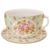 French Roses Cup & Saucer Tea Bag Cosy Set