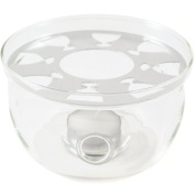 Borosilicate Glass Teapot Warmer with Resting Plate, 10cm