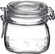 Bormioli Rocco Fido Round Clear Jar, 500ml - Set of 6