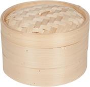 Bamboo Steamer - 3 Piece - 25cm Diameter - By Trademark Innovations