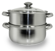Cook Pro 589 All-in-1 Stainless Steamer and Sauce Pot, 2.8l