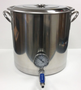 30.3l ( 30.3l) Stainless Stock Pot w/ Weldless Valve and Thermometer By Learn to Brew