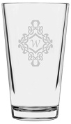 Decorated Etched Monogram All Purpose 470ml Libbey Pint Glass