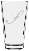 Bix Script Etched Monogram All Purpose 470ml Libbey Pint Glass